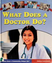 Cover of: What does a doctor do?