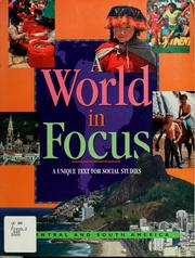 Cover of: A world in focus