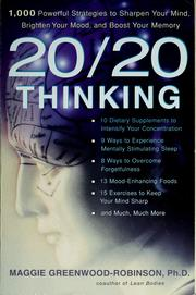 Cover of: 20/20 thinking