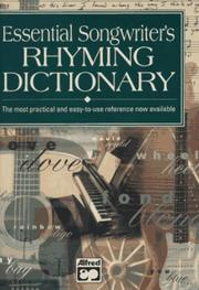 Cover of: Essential songwriter's rhyming dictionary