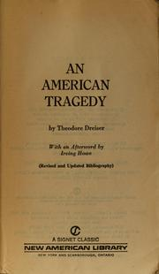 Cover of: An American tragedy, [by] Theodore Dreiser