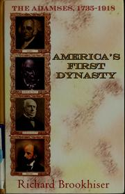 Cover of: America's first dynasty
