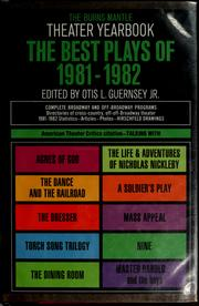 Cover of: The Best plays of 1981-1982 | Otis L. Guernsey