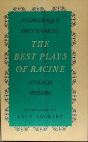 Cover of: The best plays of Racine | Jean Racine