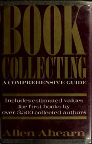 Book collecting by Allen Ahearn