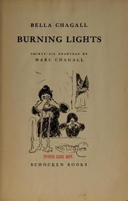 Cover of: Burning lights