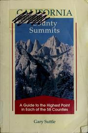 Cover of: California county summits | Gary Suttle
