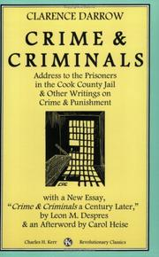 Cover of: Crime and criminals