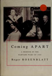Cover of: Coming apart