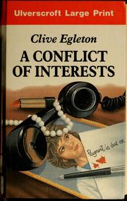 Cover of: A conflict of interests | Clive Egleton