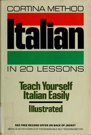 Cover of: Conversational Italian in 20 lessons | Michael Cagno