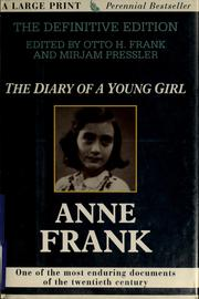 Cover of: The diary of a young girl