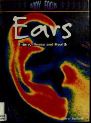 Cover of: Ears