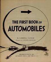 Cover of: The first book of automobiles