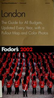 Cover of: Fodor's 2002 London