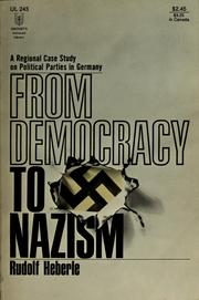 Cover of: From democracy to Nazism