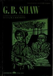 Cover of: G.B. Shaw; a collection of critical essays | R. J. Kaufmann