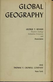 Cover of: Global geography | George T. Renner