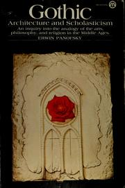Cover of: Gothic architecture and scholasticism
