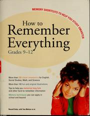 Cover of: How to remember everything