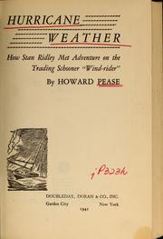 Cover of: Hurricane weather