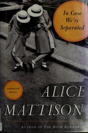 Cover of: In case we're separated