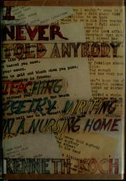 Cover of: I never told anybody
