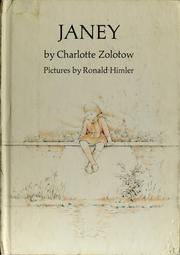 Cover of: Janey | Charlotte Zolotow