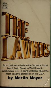 Cover of: The lawyers | Martin Mayer