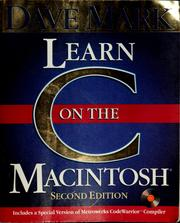 Cover of: Learn C on the Macintosh | Dave Mark