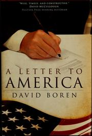 Cover of: A letter to America