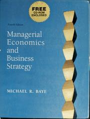 Cover of: Managerial economics and business strategy