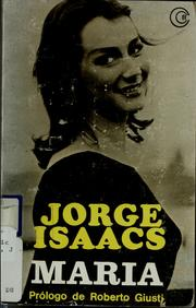 Cover of: María | Jorge Isaacs