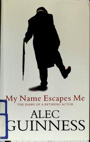 Cover of: My name escapes me