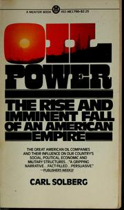 Cover of: Oil power