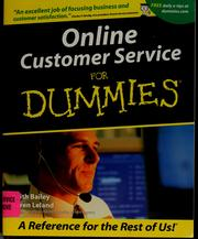 Cover of: Online customer service for dummies