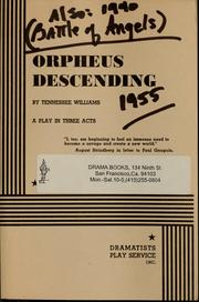 Cover of: Orpheus descending