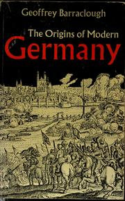 Cover of: The origins of modern Germany