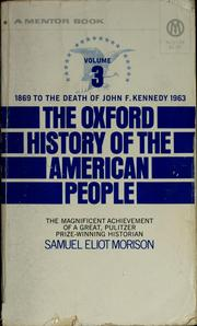 Cover of: The Oxford history of the American people