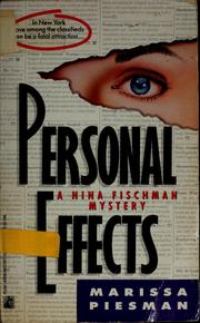Cover of: Personal effects