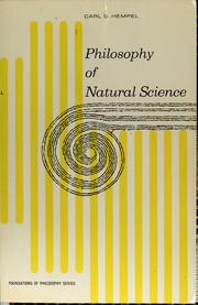 Cover of: Philosophy of natural science