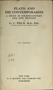 Cover of: Plato and his contemporaries | G. C. Field