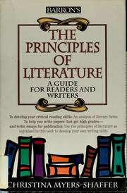 Cover of: The principles of literature