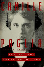 Cover of: Sex, art, and American culture | Camille Paglia