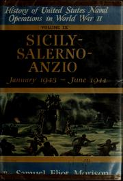 Cover of: Sicily - Salerno - Anzio, January 1943-June 1944
