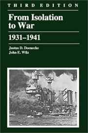 Cover of: From isolation to war