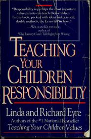 Cover of: Teaching your children responsibility