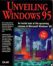 Cover of: Unveiling Windows 95