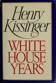 Cover of: White House years
