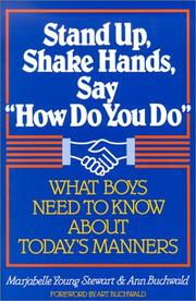 Cover of: Stand Up, Shake Hands, Say How Do You Do | Marjabelle Young Stewart